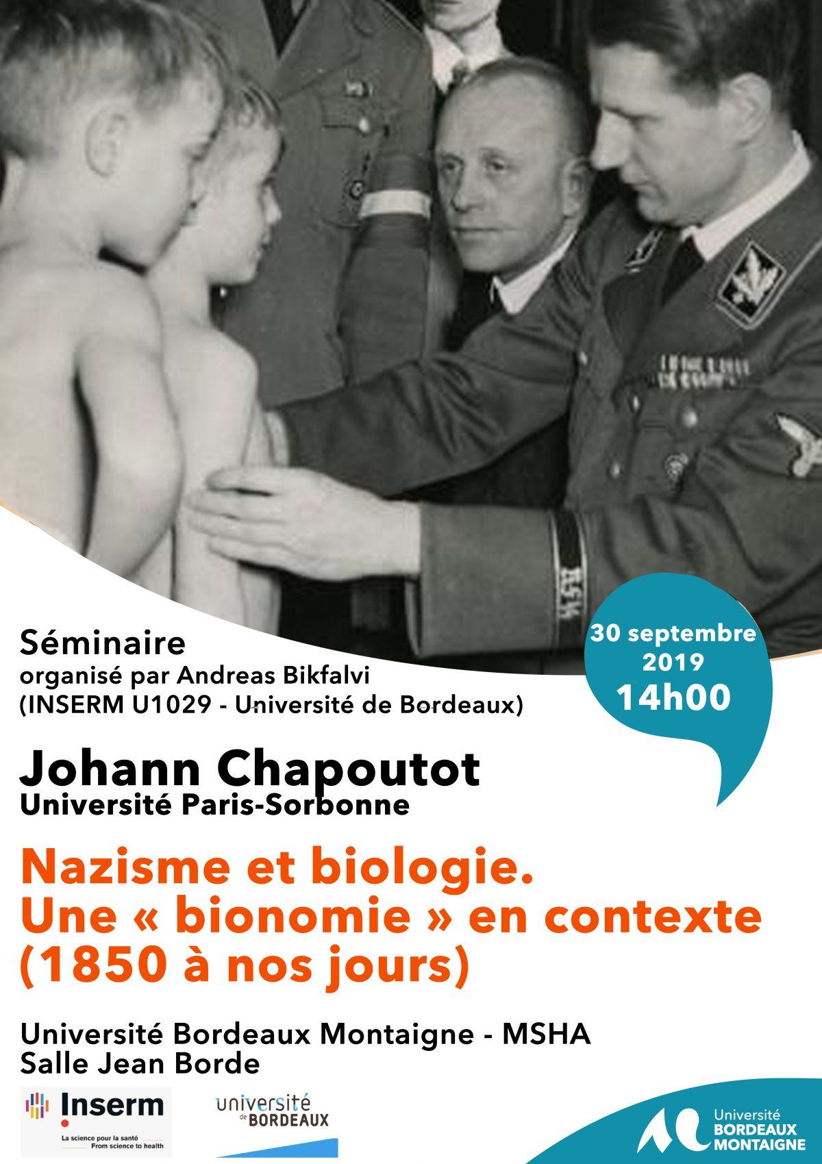 Conférence de Johann Chapoutot 30 septembre 2019