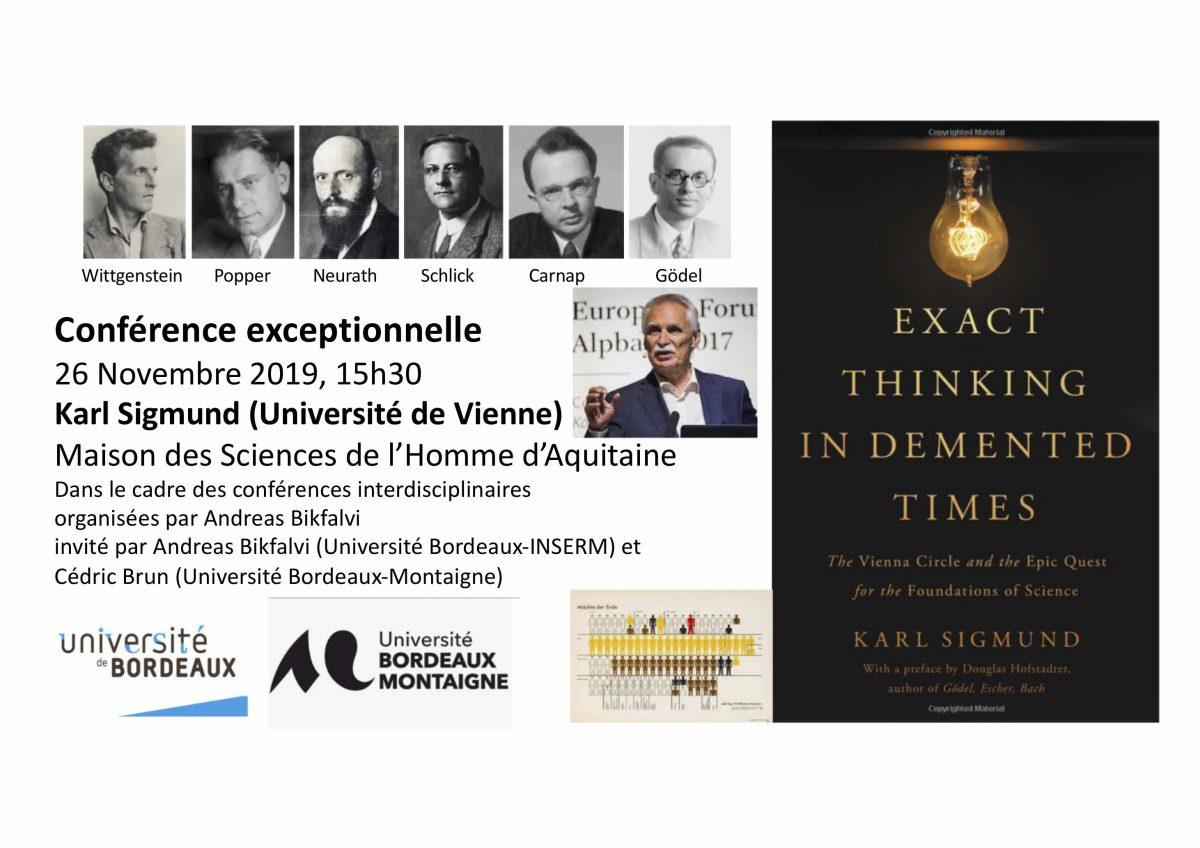 Conférence de Karl Sigmund